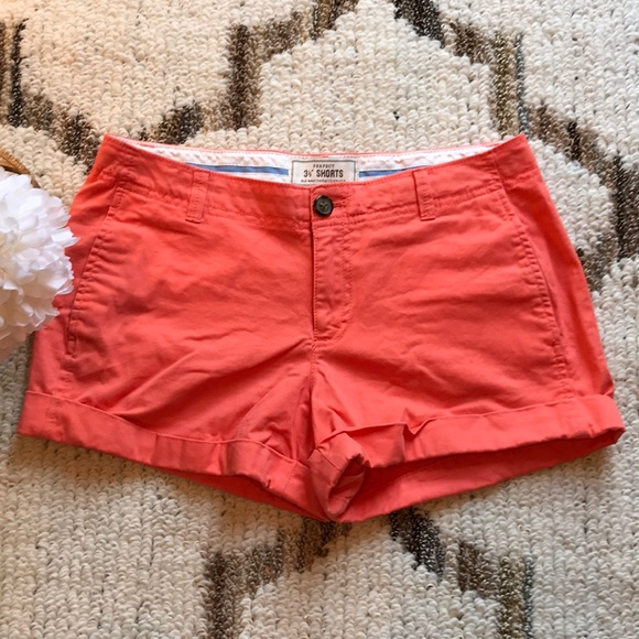 "Old Navy Pants - Old Navy 3 1/2"" Orange/coral Shorts"